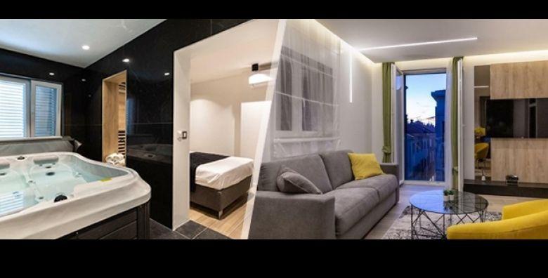 Luksuzan odmor u centru grada Zadra Izaberite 1 ili 2 nocenja za 2 osobe i uzivajte u potpunom opustanju u dizajnerski opremljenom i modernom Marcius Luxury Apartment s jacuzzijem i finskom saunom