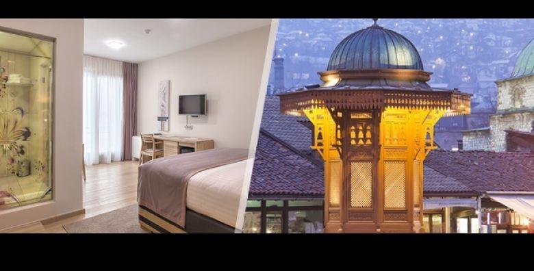Otkrijte zimske atrakcije Sarajeva Ocarajte se ljepotama na 2 dana 1 nocenje ili 3 dana 2 nocenja s doruckom u Hotelu Aziza 4 uz uzivanje u sauni sve za 2 osobe i dijete do 3 g  od samo 349 kn