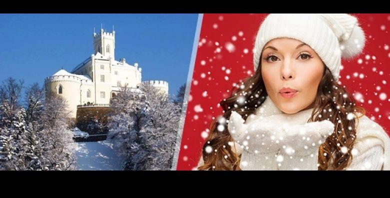 Najljepsa obiteljska bajka u zimskoj idili Hotela Trakoscan 4  1 ili 2 nocenja sa polupansionom za 2 osobe i 2 djece do 12 g  bogati wellness spa animacijski program ulaznice za dvorac