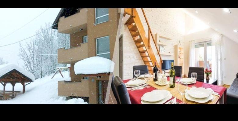 Zimska carolija netaknute prirode uz obilje cistog zraka Uzivajte na Bjelolasici u Apartmanima Mirta na 3 dana 2 nocenja ili 6 dana 5 nocenja za 4 ili 6 osoba  gratis parking od samo 649 kn