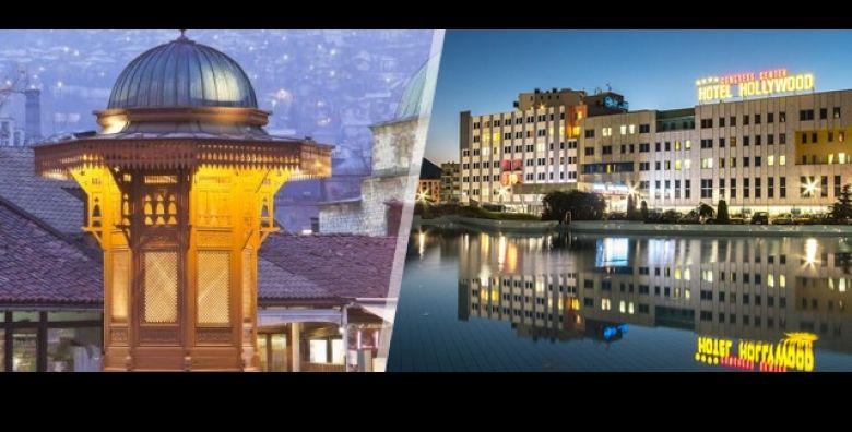 Ugodna zimska atmosfera Sarajeva razmazit ce Vas na 3 dana 2 nocenja s doruckom za 2 osobe i djecu do 6 g u Hotelu Hollywood 4  Opustite se uz bazen saunu  ulaznica za Termalnu rivijeru Ilidza