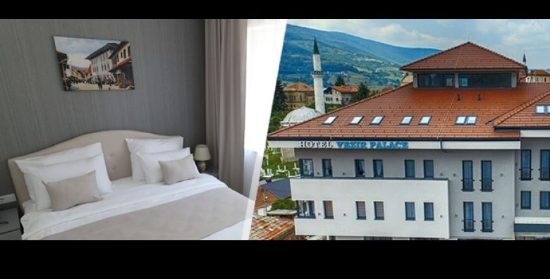 Iskusite wellness fantaziju ove zime u modernom Hotelu Vezir Palace 4 u centru Travnika na 3 dana 2 nocenja s POLUPANSIONOM za 2 ili 3 osobe uz koristenje saune i GRATIS parking od samo 959 kn