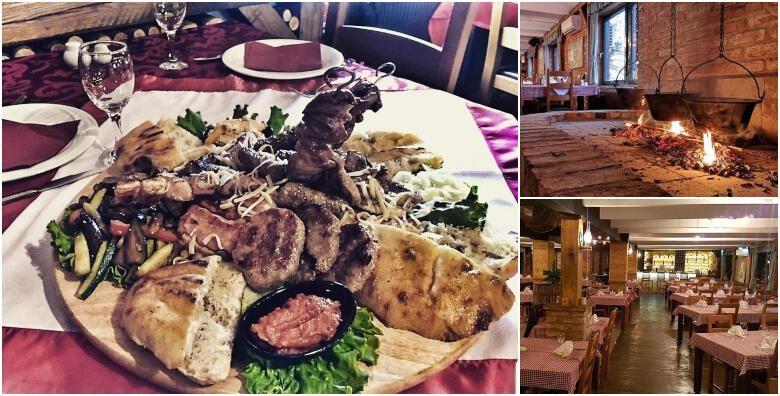 Bogati meni za 2 osobe  garantirano dobra zabava uz zivu muziku u restoranu Makedonska Baraca za 119 kn