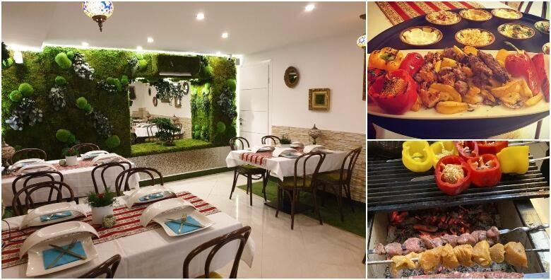 Libanonske delicije za jednu osobu u restoranu Byblos  jelo s rostilja po zelji ili dnevni specijalitet uz slasne autohtone namaze 129 kn