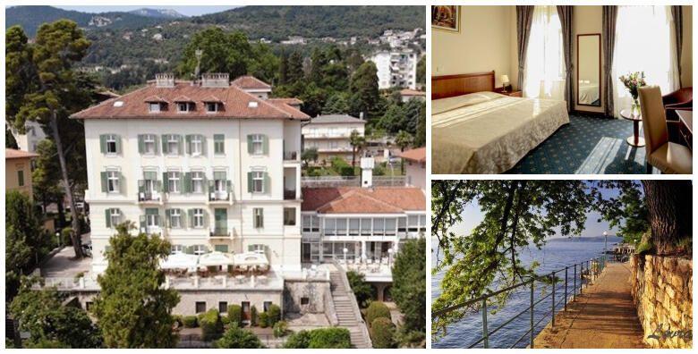 Hotel Lovran 3 na samom setalistu Lungomare  1 ili 2 nocenja s doruckom za 2 odraslih i 2 djece do 12 godina tek 50 metara od prekrasne plaze od 449 kn