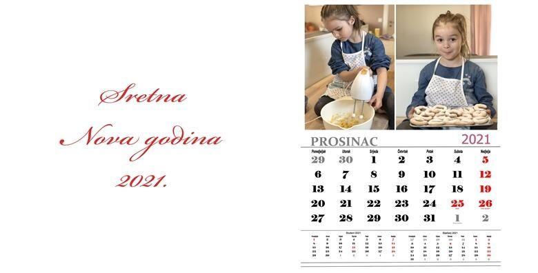 Personalizirani zidni kalendar  uljepsajte svaki mjesec 2021 godine kalendarom s Vasim fotografijama za samo 79 kn