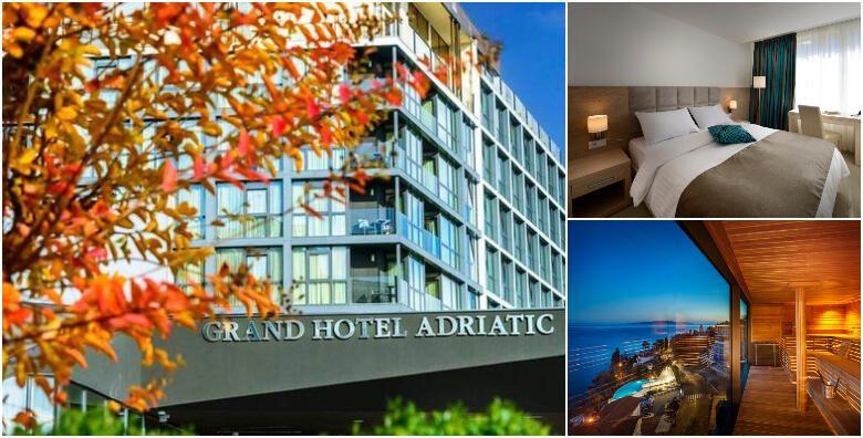 Opatija  2 nocenja s polupansionom za dvoje u standard ili superior sobi s pogledom na more u Grand Hotelu Adriatic 3 4 uz koristenje bazena i spa zone od 1 409 kn
